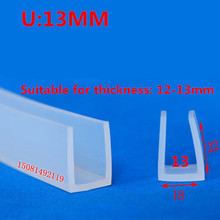 5 M Protection Guard Strip Glass table Corner Protector Table Desk Safety Silicone Edge silicone edging strip Bumper strip soft table edge corner guard cover baby safety rubber table edge guard protector desk corner bumper for kids security protection