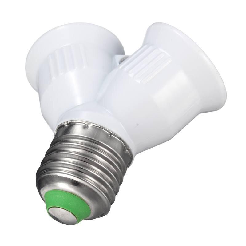 Цоколь лампы E27 к E27 двойной цоколь лампы держатель конвертер сплиттер адаптер для светодиодной лампы 1A 220V