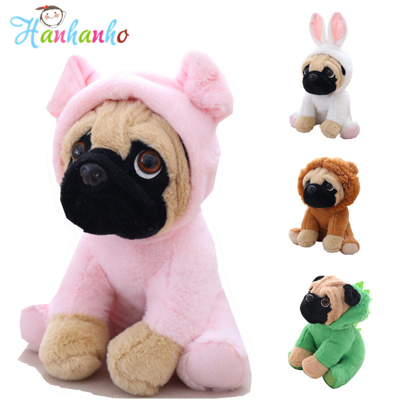Cute SharPei With Hat Plush Toy Stuffed Puppy Cosplay Pet Toy Plush Animal Toy Children Kids Birthday Christmas Gifts super cute plush toy dog doll as a christmas gift for children s home decoration 20