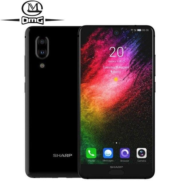 هاتف ذكي شارب أكوس S2 C10 يعمل بنظام الأندرويد 8.0 يدعم 4G بشاشة 5.5 بوصة FHD + سنابدراجون 630 ثماني النواة هاتف محمول 4 جيجابايت + 64 جيجابايت NFC