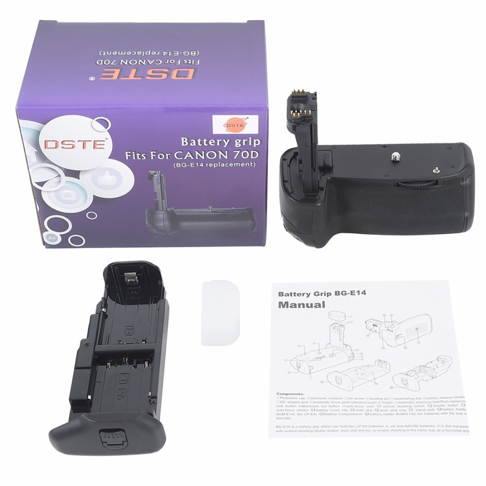 DSTE BG E14 Battery Grip for CANON 70D 80D DSLR Camera