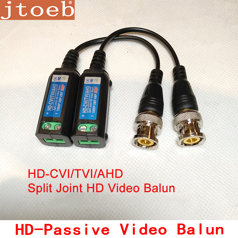 Jtoeb 5mp HD-CVI/TVI/AHD Passive Video Balun Support Dahua HDCVI Camera Transmission By UTP CAT5E/6 Cable MAX 400m