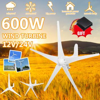 600W turbina wiatrowa 12 V 24 V 3 5 ostrza poziomy generator wiatrowy z kontrolerem wiatrak turbiny energetyczne ładunek tanie i dobre opinie STAINLESS STEEL Generator energii wiatru Bez Podstawy Montażowej Electromagnet wind wheel yaw automatic adjustment of the wind