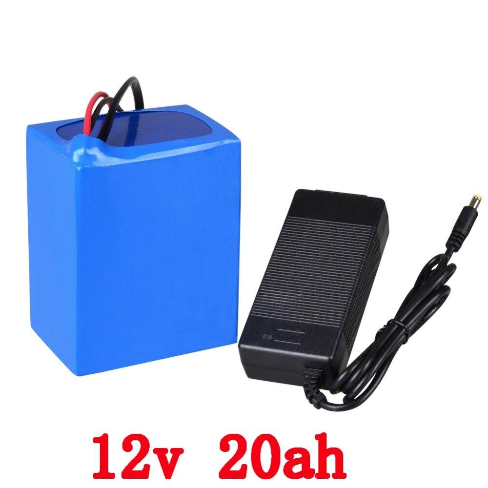 Batterie au Lithium 12 v 20AH batterie de vélo électrique 12 V 20000 mah batterie Lithium ion avec chargeur 12.6 V 5A livraison gratuite