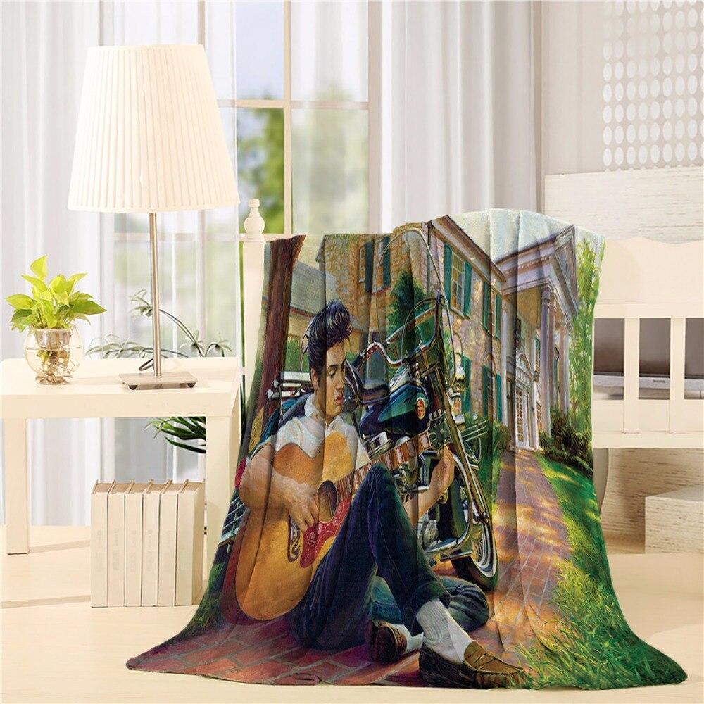 Изготовленный На Заказ фланелевый плед Elvis легкий уютный диван кровать супер мягкое одеяло ткань