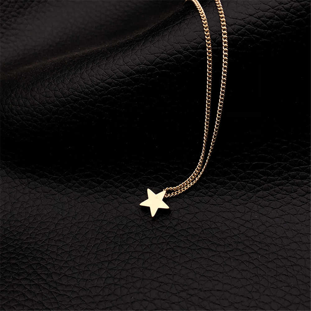 Fashion Star Choker Necklace Women Jewelry Link Chain Gold Silver Star Necklace Charm Pendant Necklace Wedding Birthday Gifts