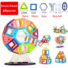 46pcs/set Magnetic Blocks Modeling & Building Construction Toys Ferris Wheel Magnetic Designer Educational Toys for Children(China)