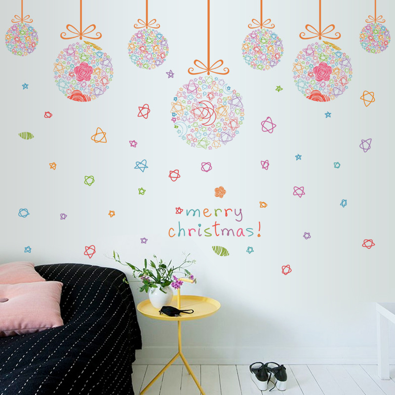 merry christmas vinyl wall stickers for kids rooms living room wall