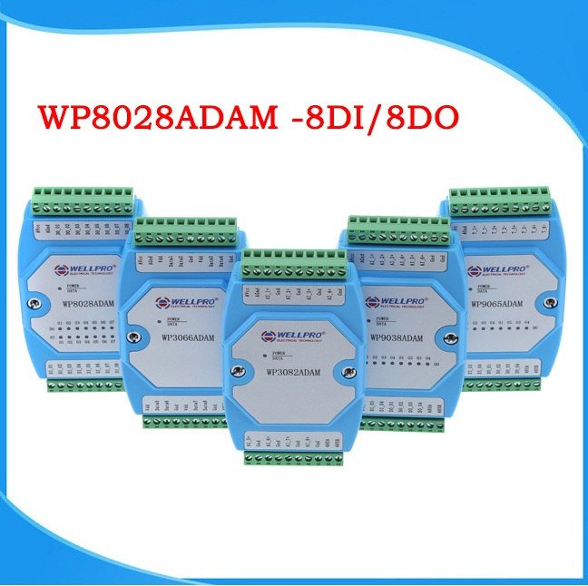 16 Digital Input Module Controller Optocoupler Isolated RS485 MODBUS RTU Communication Module WP8026ADAM(16DI)