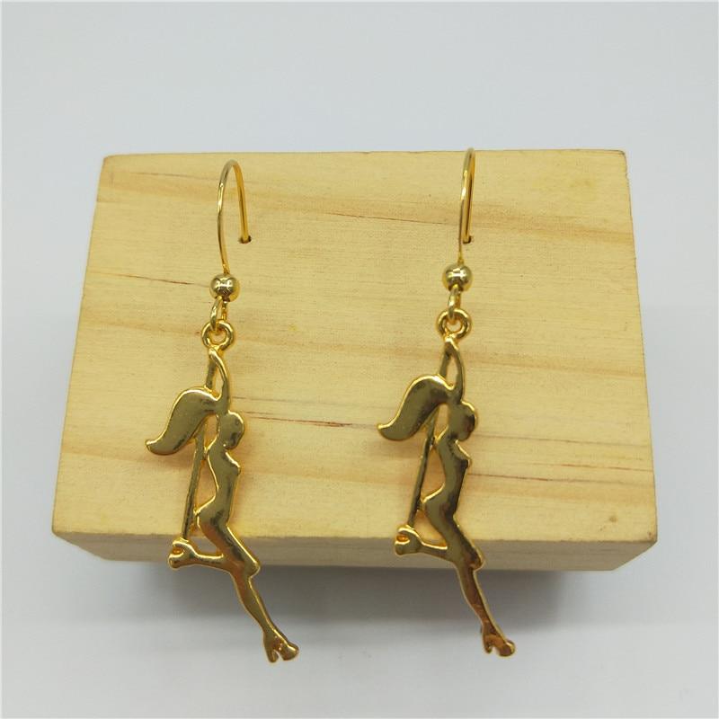Trendy Pole Dancer Key earring Strip Dancer Silhouette Gift for Bachelorette Party Women earring Keyring Figure Jewellery