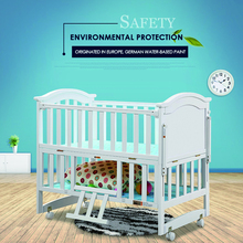 Russian warehouse environmental protection Baby multifunction wood crib solid wood baby bed bedding kids wooden bed baby shaker