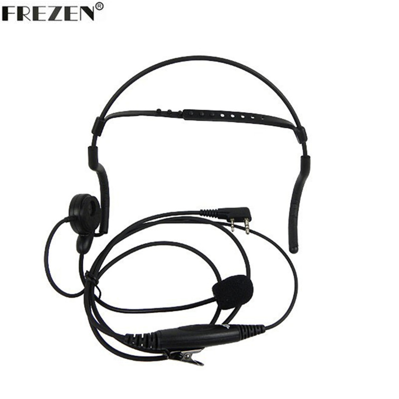 Advanced Unilateral Headphone Mic PTT Neckband Earpiece Tactical Headset For Kenwood BAOFENG Radio UV-5R UV-82 BF-888S GT-3