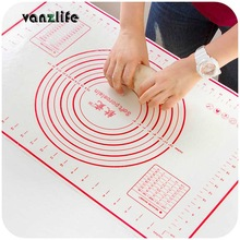 vanzlife platinum silicone mat dough chopping board with a scale large non-slip silicone mat kitchen bakeware