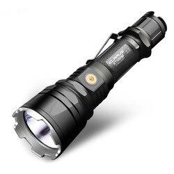 Taschenlampe KLARUS XT12GT CREE XHP35 HALLO D4 LED Schwarz max 1600LM werfen 603 meter Magnetische-Lade fackel mit 3600 mAh batterie