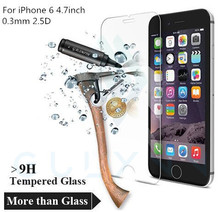 Pelicula De Vidro Screen Protector for Iphone 6 Tempered Glass Apple Plus 4.7 0.3mm IPhone 4 5 5s 7 p