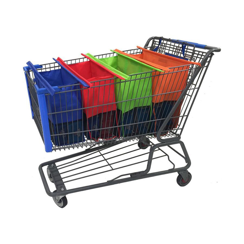 50Set/lot Shopping Cart Trolley Bags Foldable Reusable Grocery Shopping Bag Eco Supermar ...