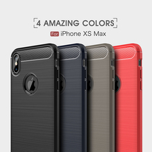 Luxury Carbon Fiber Protective TPU Silicone Back Cover For iPhone XR X XS Max 8 7 Plus 6 6S SE 5 5S Phone Case Shockproof Cases цена и фото