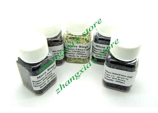 1000 шт 5 цветов 7 мм медные микро-кольца/звенья/бусины/трубка для наконечник палки инструменты для наращивания волос, светло-коричневый, Горячая продажа LZH0025