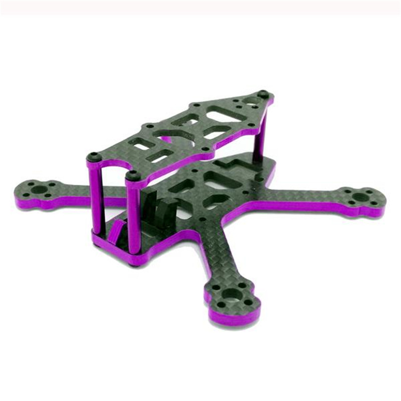 SPC 95GF 95mm Wheelbase 3mm Arm 3K Carbon Fiber FPV Racing RC Drone Frame Kit 16g for Racer Quadcopter Spare Parts DIY 2017 newest realacc furious 220mm carbon fiber 6mm arm fpv racing frame kit 97g for rc racer drone fpv quadcopter diy spare part