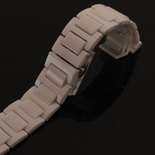 High Quality Ceramic watchband bracelet white watch band 14mm 16mm 18mm 20mm wristwatches band new Ceramic