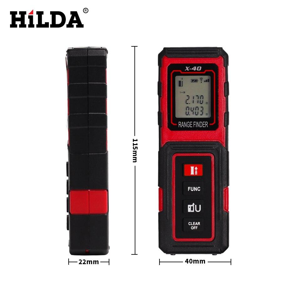 Хильда Портативный ручной лазерный дальномер 40 м измеритель расстояния цифровой лазерный дальномер лазерный Мера тестер