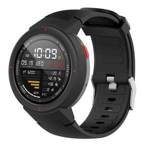 Image 4 - סיליקון רצועת השעון רצועת עבור Huami 3 Smartwatch amazfit סף (A1801) החלפת 10 צבעים להקת יד צמיד רצועות