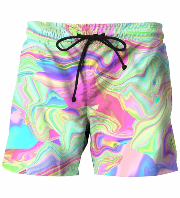 New Arrive Mens Shorts Tie Dye Prints Beach Shorts Homme Hip Hop Streetwear Short Pants Board Shorts