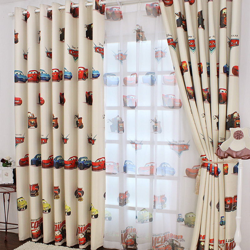US $9.53 47% OFF|Cartoon Car Curtains for Living Room Boys Bedroom Kids  Room Nursery Children Blackout Curtain Drapes Window Panel Beige Cream-in  ...
