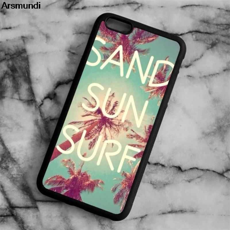 Arsmundi font b 2018 b font NEW Sand Sun Surf Phone Cases for font b iPhone