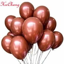 20pcs 10inch brown latex balloon inflatable helium air globos wedding valentines romantic bedroom decoration birthday party kid