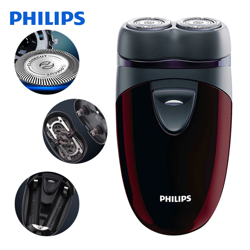Original Philips Electric Shaver PQ206 With Two Floating Heads AA Battery Facial Contour Tracking For Men's Electric Razor philips s551 electric double heads 3d shaver