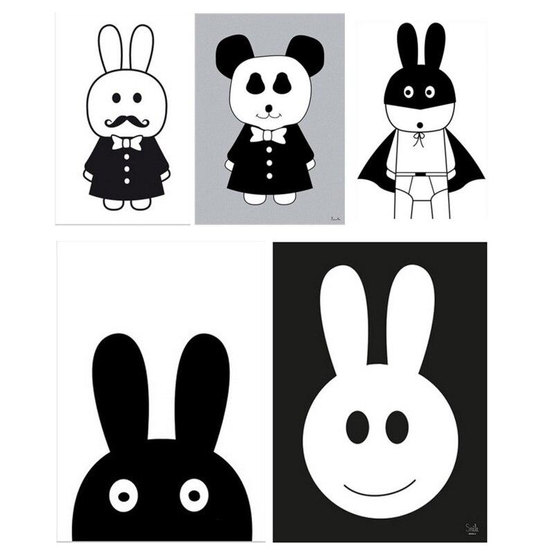 Cute Rabbit Animal DIY Wall Sticker Балалар бөлмесі - Үйдің декоры - фото 6