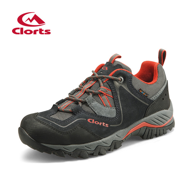 Clorts Trekking Shoes for Men Cow Suede Low Cut Hiking Shoes Waterproof Outdoor Climbing Shoes HKL-826D/G