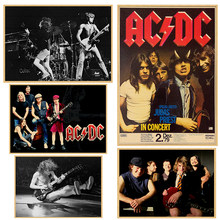 Vintage Poster ACDC Kraft retro retro old rock and roll old poster Euro & American music team star retro poster(China)