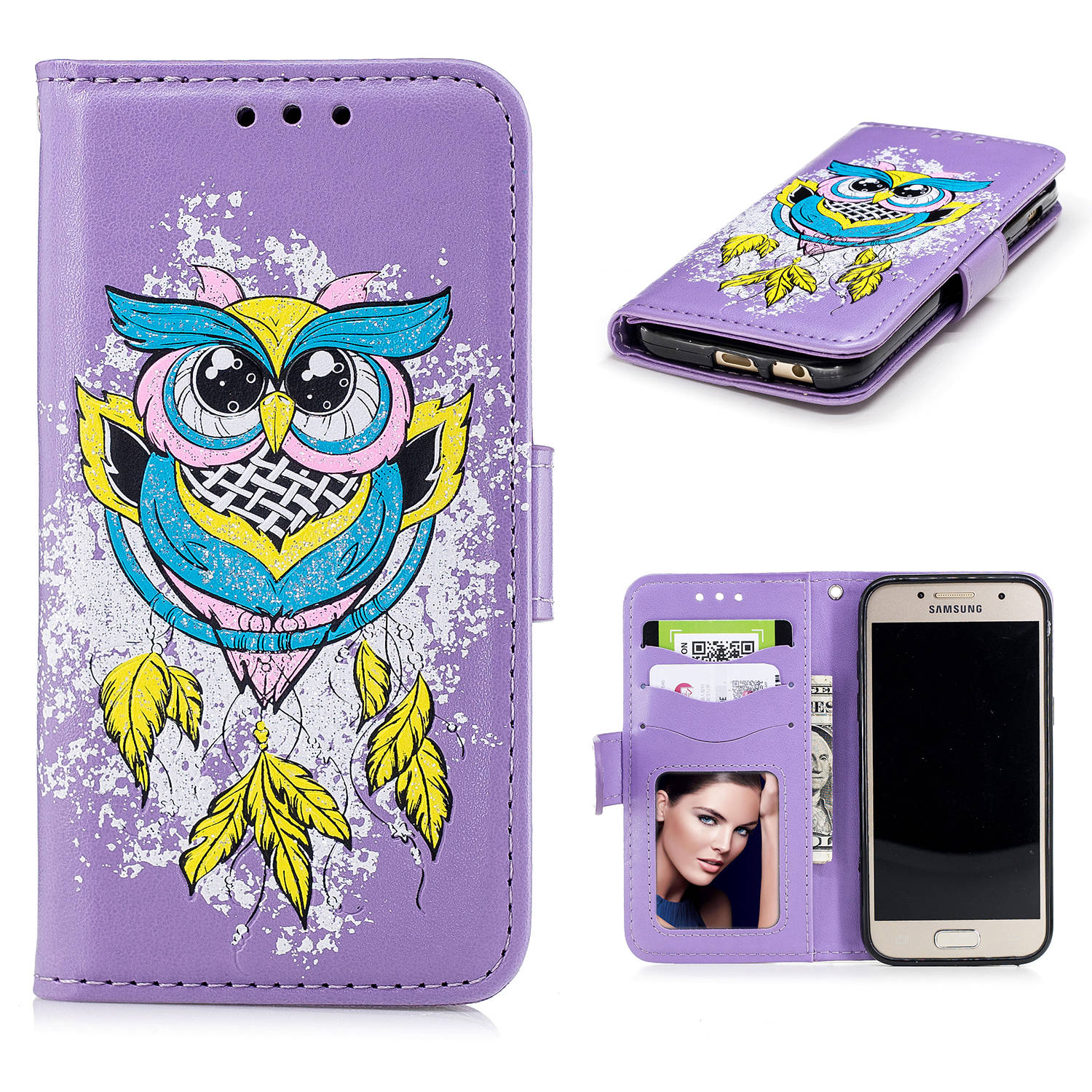 For Samsung Galaxy A3 2017 Case Luxury Ultra-Thin PU diamond owl pattern Leather Cases For Samsung Galaxy A3 2017 Case