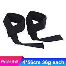 1 pair Weight Lifting Belt Wrist Dumbbell Grip Strength Belt Brace Band Handwraps Bodybuilding Strength Power Training Strap