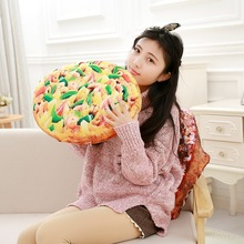 1pcs Creative Simulational Bread Steak Pizza Shape Pillow Plush Toy Funny Food Stuffed Pillow Cushion Kids Birthday Gift