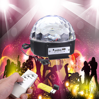 LED MP3 USB Crystal Light DJ Club Pub Disco Home Party Music Crystal Magic Ball Stage Effect Light with USB Disk Remote Control