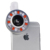 Led luz de relleno de teléfono selfie lentes 4 archivos oscurecimiento flash clips lentes de gran angular macro para nokia lumia 1020 630 640 asus zte
