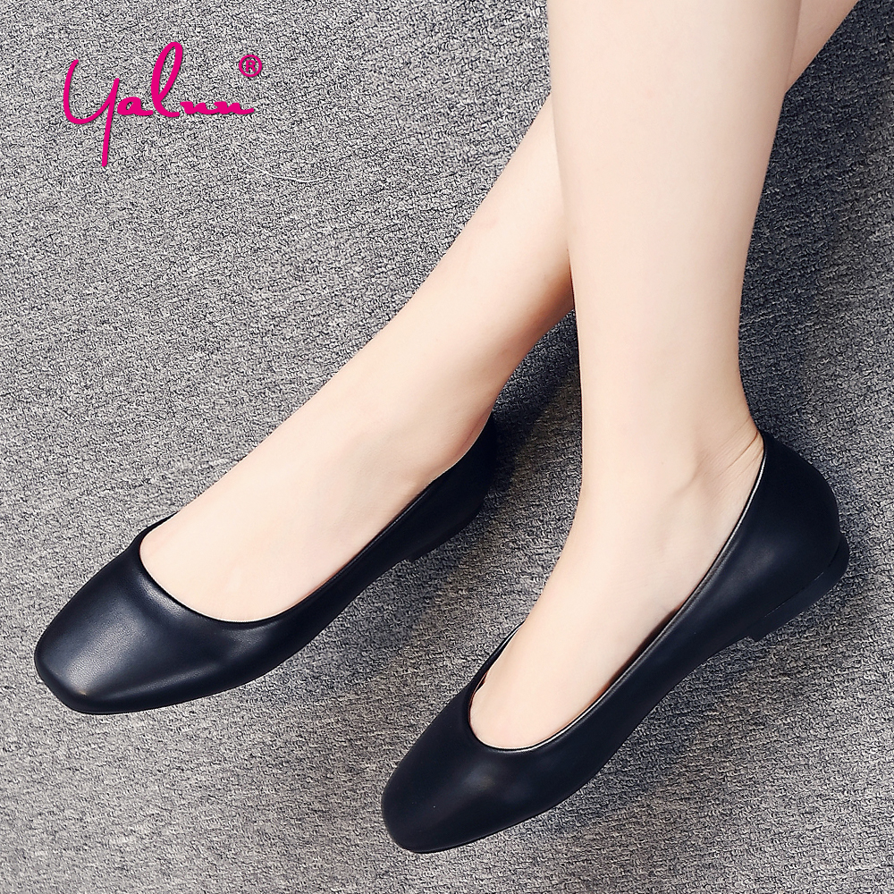 Plus Size Soft Leather Flats Shoes Woman Slip On Flats Comfortable Ladies Summer Shoes Flats For Women Square Toe Work Shoes New lisa kohne two way language immersion students how they fare in secondary school