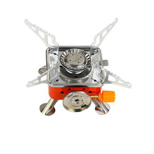 Card stove outdoor  head portable folding camping four-way tent heater equipment propane gas burner