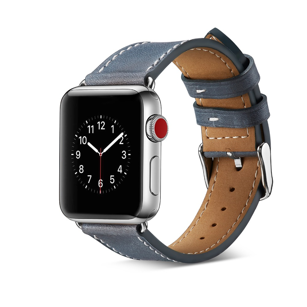 Genuine Leather Watch Bracelet Accessories For Apple Watch Strap 38mm Black Apple Watch Band 42mm Series 3 2 1 Iwatch Watchbands istrap black brown red france genuine calf leather single tour bracelet watch strap for iwatch apple watch band 38mm 42mm