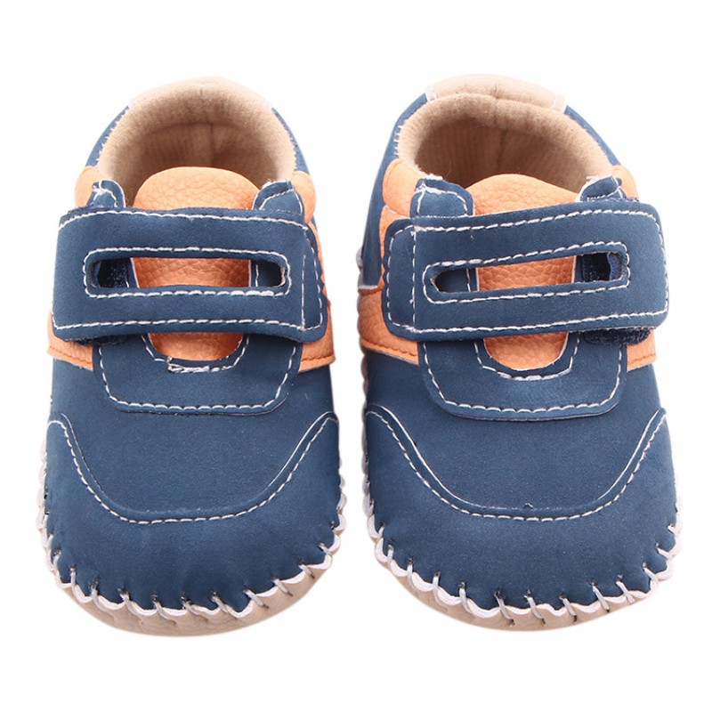 Baby Boys PU Leisure Spring Autumn Shoes First Walkers Anti-Skid Newborn Baby Toddler Shoes