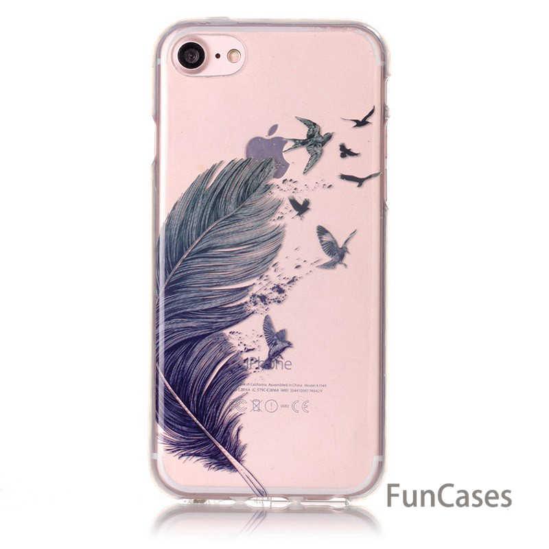 Funda blanda delgada de Gel TPU para Apple iPhone 5 5S SE 5C 6 6 S 7 Plus iPod Touch 5 6 silicona transparente Fundas protectoras B67