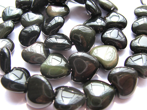 high quality LOT genuine rainbow obsidian hearts love jewelry beads 12mm---5strands16/perhigh quality LOT genuine rainbow obsidian hearts love jewelry beads 12mm---5strands16/per