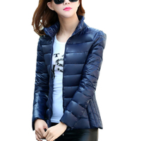 New Designer Winter Jacket Women Slim Ultra Light Short Cotton Padded Jacket Fashion Ladies Winter Outerwear