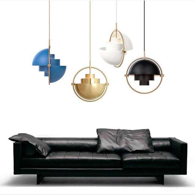 Modern Rotatable Metal Half-Circle Pendant Light Living Room Abajour Dinning Room Pendant Lamp Study Lustres Semicircle Lampen