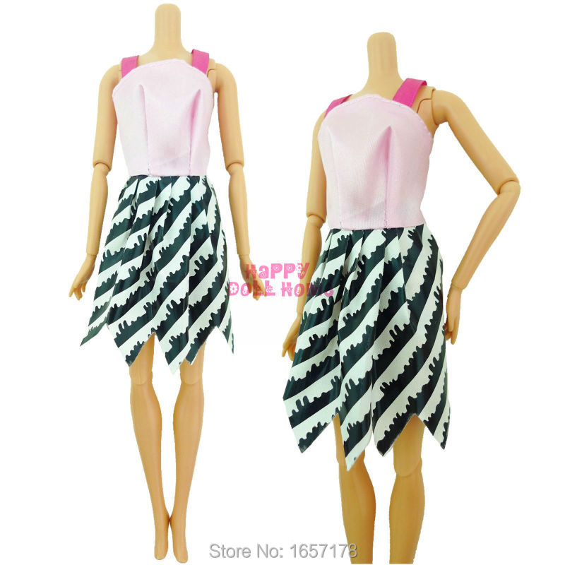 Random 12 Mix Beautiful Handmade Party Dress Clothes For Barbie Doll