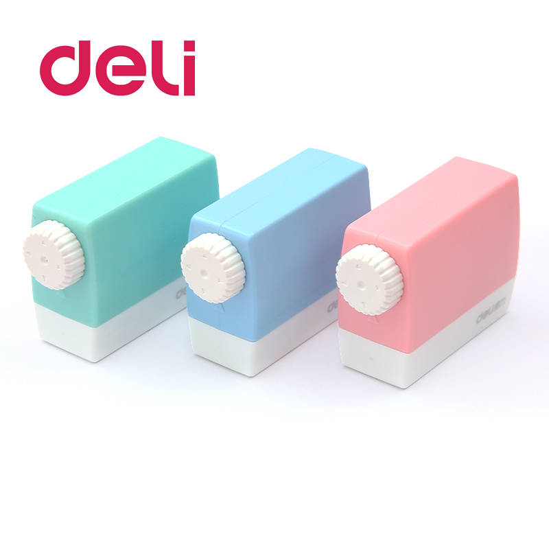 Deli 1pcs Novelty Adjustable Thick Pencil Sharpener Creative Emotions Plastic Children Stationery Supplies Sketch Lead Planer
