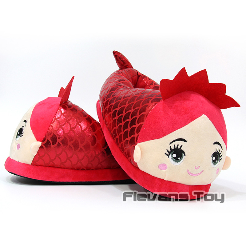 Ariel The Little Mermaid Plush Slippers Winter Indoor Warm Shoes Soft Stuffed Toys the little mermaid level 4